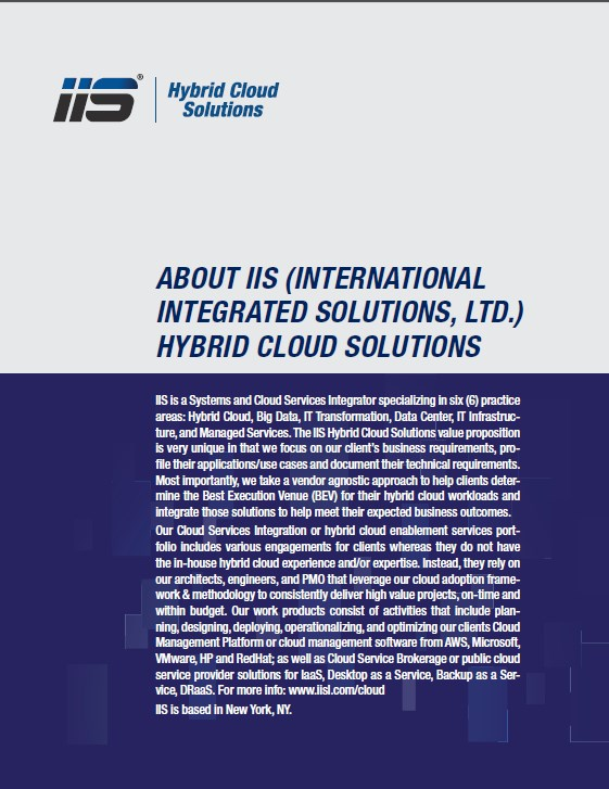 HybridCloudSolutions CoverPage